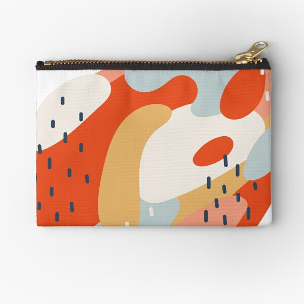Abstract Tangle 2 Zipper Pouch