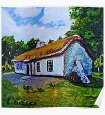The Weaver's Cottage, Cultra, County Down.  Poster