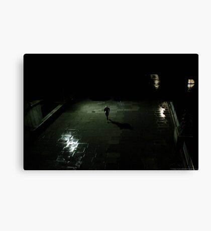 lonely runner Canvas Print