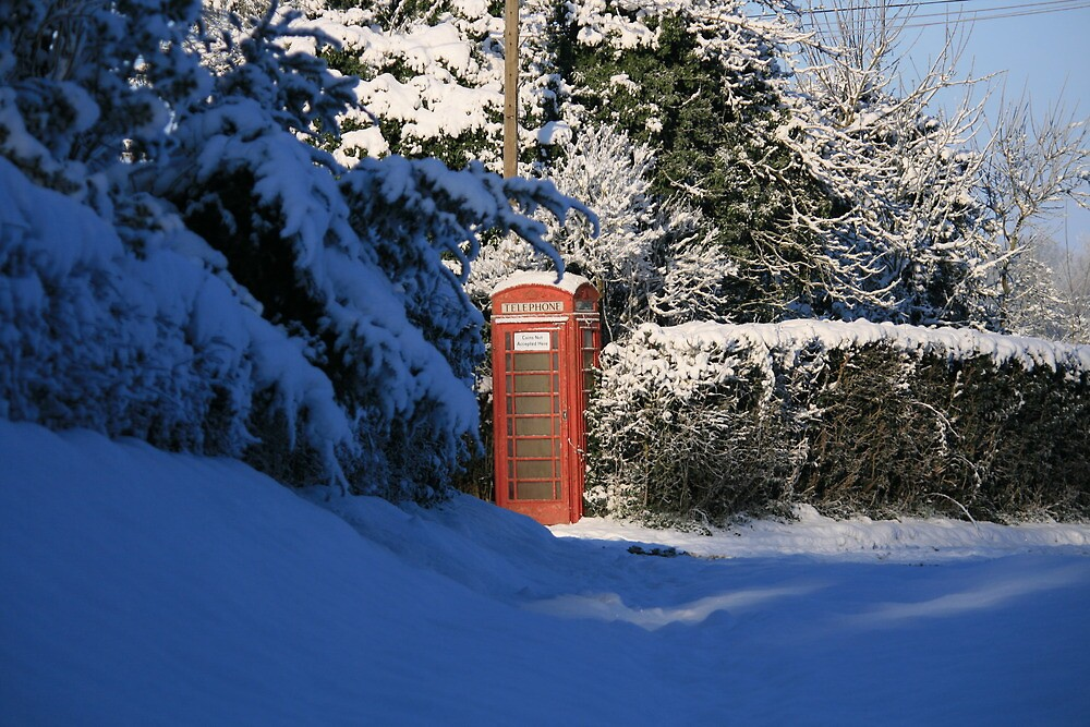 Letter Box In Snow by bodragonfly