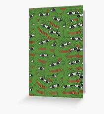 Happy Pepe Collage Greeting Card