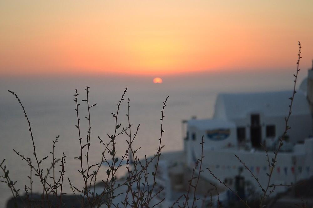 Oia Sunset - Santorini Greece by Caidy