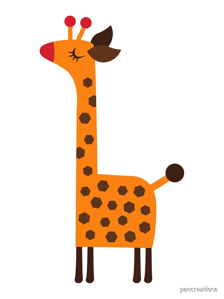 Peach Giraffe by pencreations