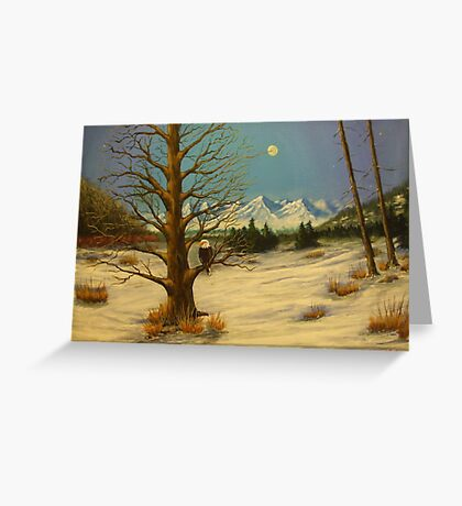 Moonlighting Eagle Greeting Card