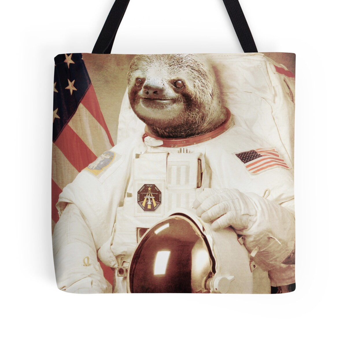 """""""Astronaut Sloth"""" Tote Bags by BakusPT 