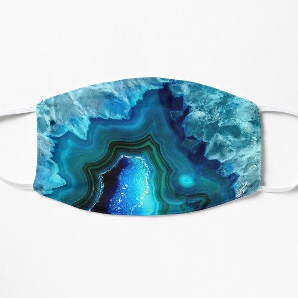 Teal Blue Agate Flat Mask