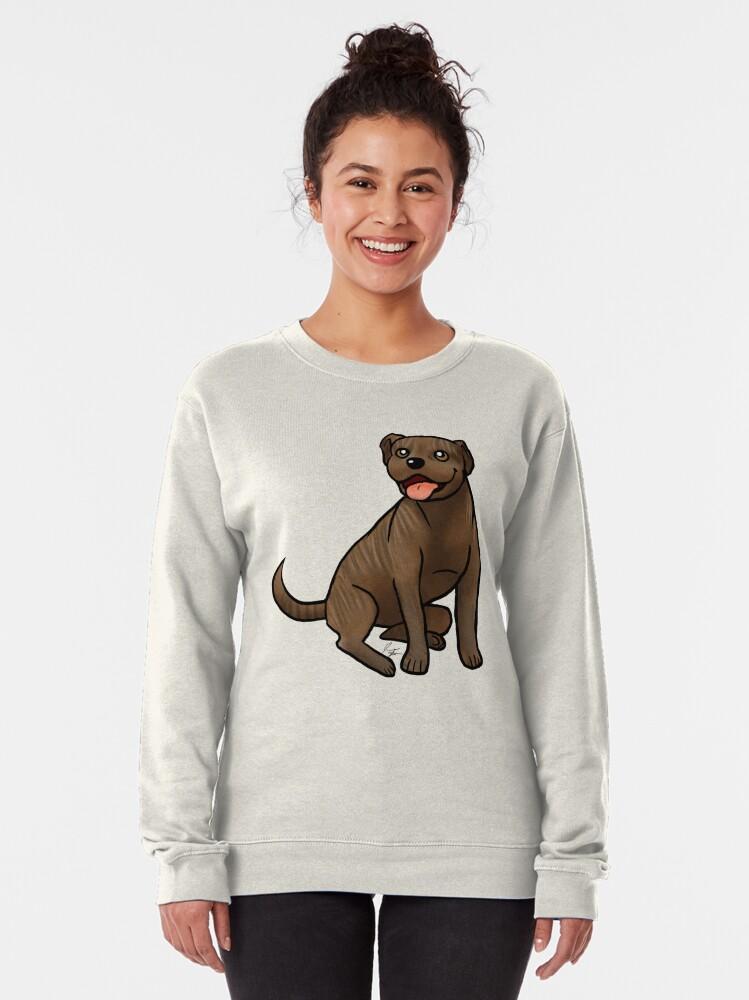 Alternate view of American Pit Bull Terrier - Brindle Pullover Sweatshirt