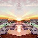 Beach Sunset - Abstract Print by Tony Gaglio