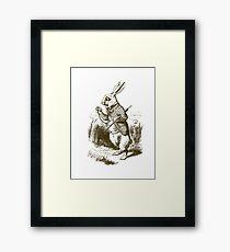 Alice in Wonderland White Rabbit Framed Print