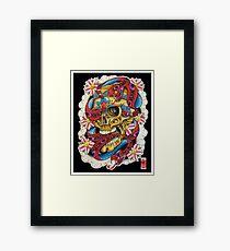 Skull and Snakes Framed Print