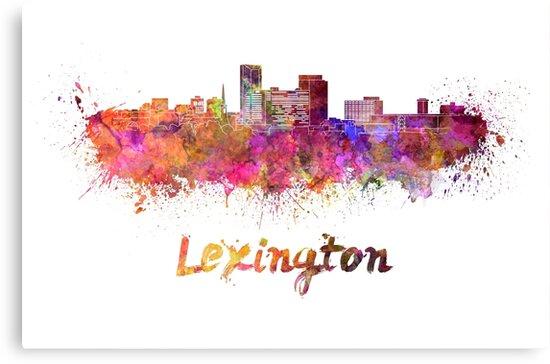 Lexington skyline in watercolor by paulrommer