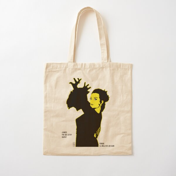 Lola Flores Silueta Amarilla Bolsa de algodón