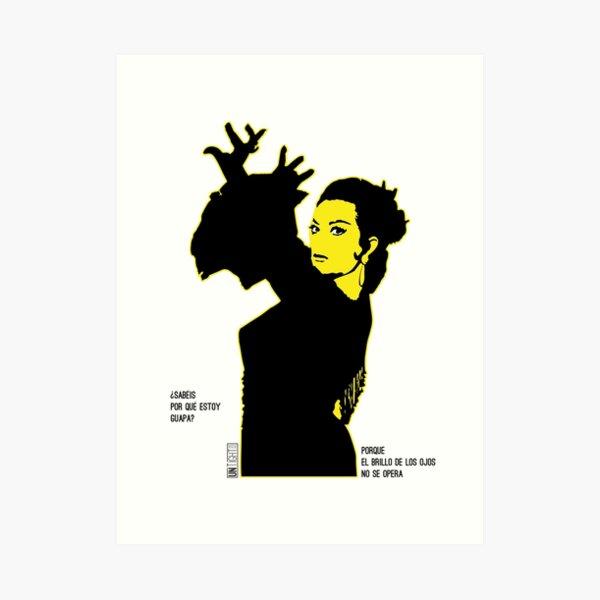 Lola Flores Silueta Amarilla Lámina artística