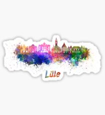 Lille skyline in watercolor Sticker
