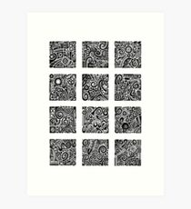 Doodle Dozen Art Print