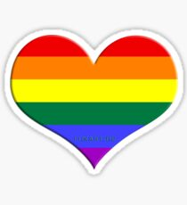 gay heart - gay, love, csd, rainbow, lesbian, pride Sticker
