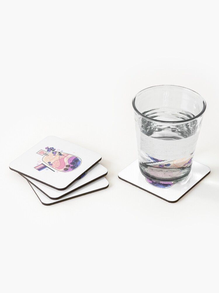 Alternate view of Gender fluid cocktail Coasters (Set of 4)