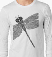 Dragon Fly Doodled Long Sleeve T-Shirt