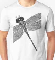 Dragon Fly Doodled Unisex T-Shirt