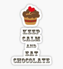 Keep Calm and Eat Chocolate Sticker