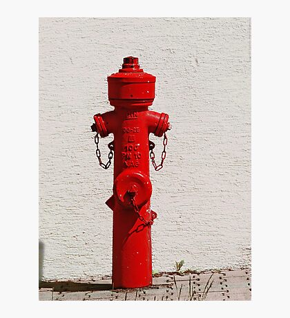 Bright Red Fire Hydrant VRS2 Photographic Print