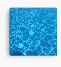 waves gently splashing on the beach - it's time to make a wish Canvas Print