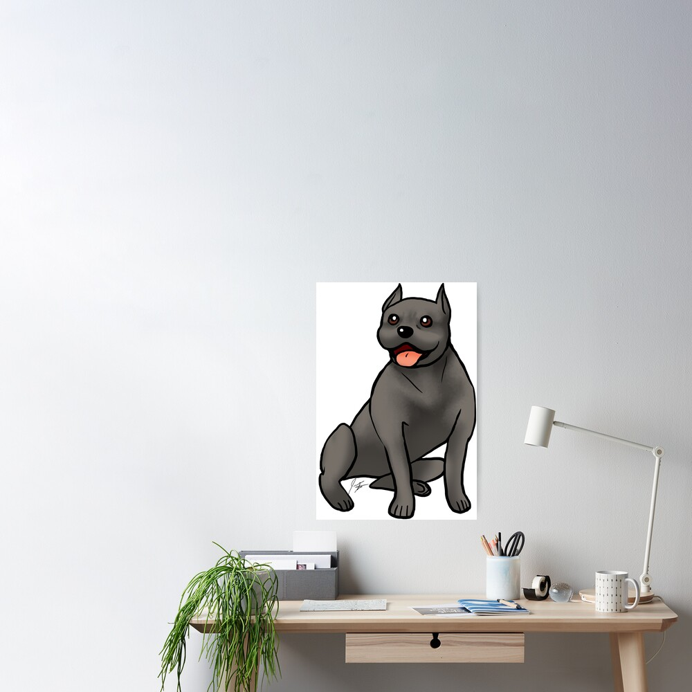 American Staffordshire Terrier - Black Poster