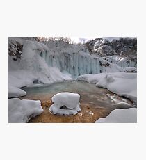 Plitvice in winter Photographic Print