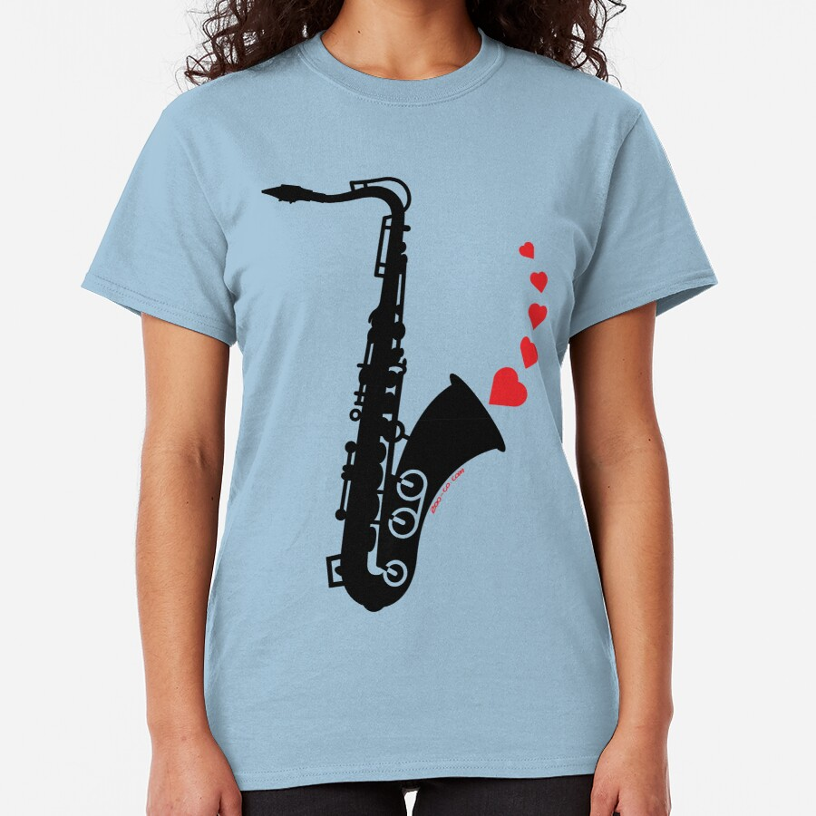 Sax and Love Classic T-Shirt