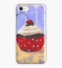 Red Cherry Cupcake iPhone Case/Skin