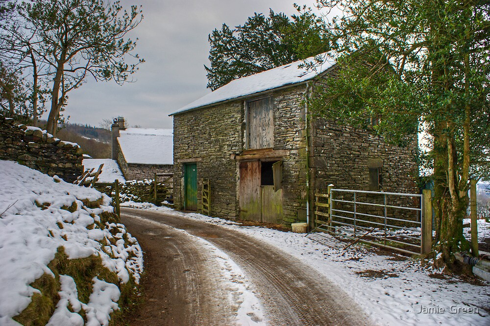 A Barn Near Monk Coniston by Jamie  Green