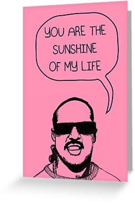 Stevie Wonderful 'Sunshine' Card by Socialfabrik