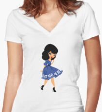 Bride's Companion A Women's Fitted V-Neck T-Shirt