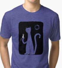Cat & Mouse - Black Tri-blend T-Shirt