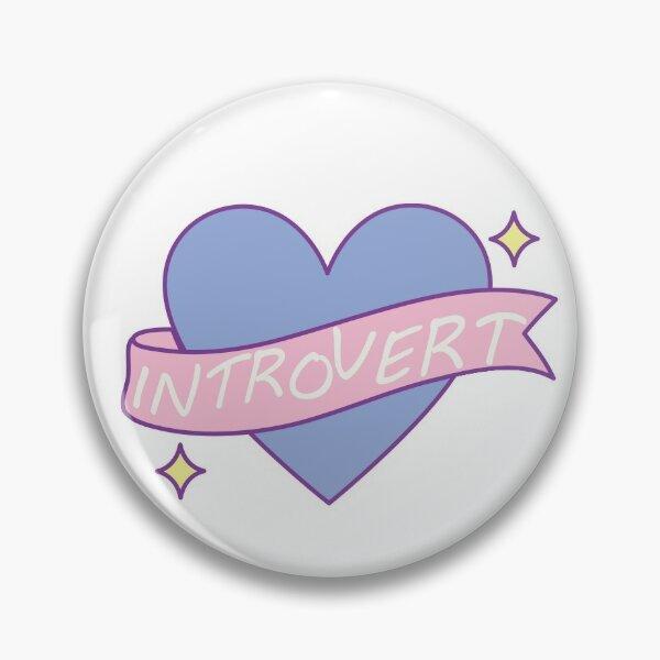 Introvert pastel heart shape Pin