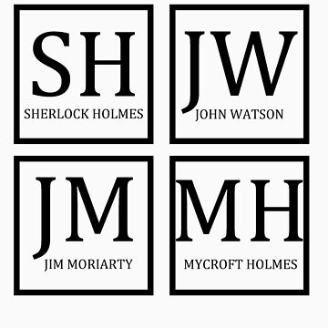 Sherlock Characters by woodlandfaeries