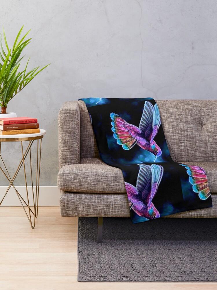 Alternate view of HUMMINGBIRD Throw Blanket