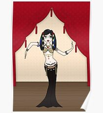 Gothic Tribal Fusion Bellydancer Poster