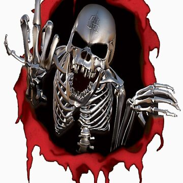 Middle Finger Skeleton T-Shirt by Emporium