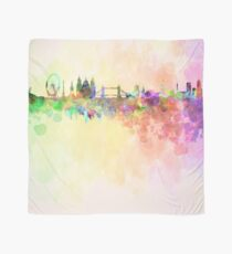 London skyline in watercolor background Scarf