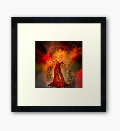 On fire 2 By Annabellerockz Framed Print