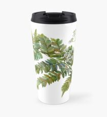 Watercolor fern and flowers Travel Mug