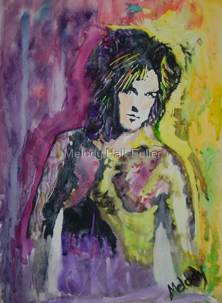 Original Watercolor Nikki Sixx by Melody Hall-Fuller