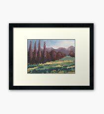 Purple Trees Framed Print