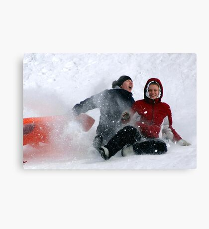 SNOW WIPEOUT! Canvas Print