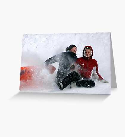 SNOW WIPEOUT! Greeting Card