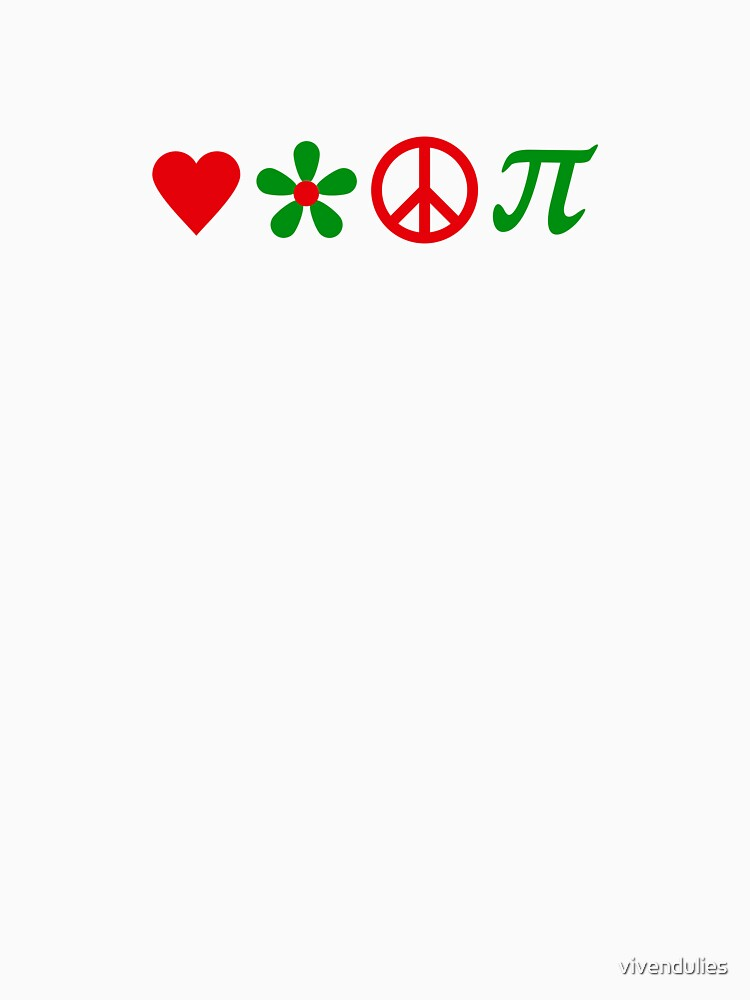 Love, Flower, Peace and Pi VRS2 by vivendulies