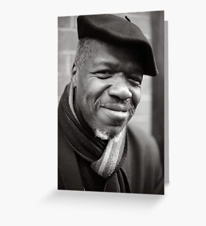 Etienne: Jazz Singer Greeting Card