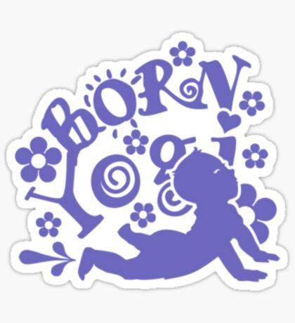 Born Yogi (blue) VRS2 Sticker