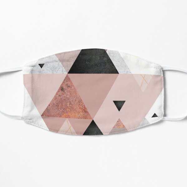 Geometric Compilation in Rose Gold and Blush Pink Mask